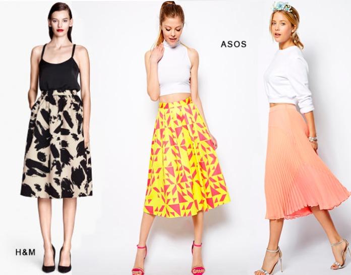 faldas midi low cost