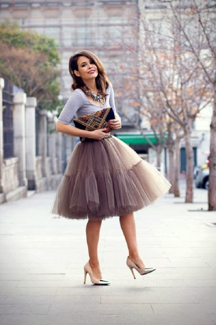 collage vintage -falda midi