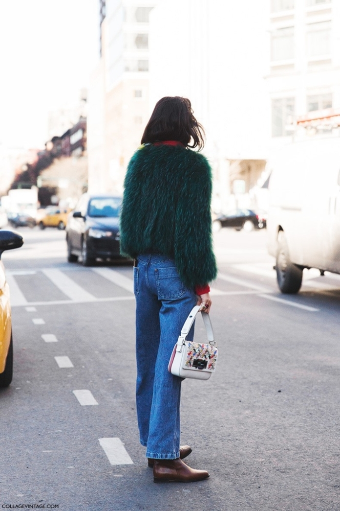 New_York_Fashion_Week-Fall_Winter_2015-Street_Style-NYFW-Leandra_Medine-Fur_Coat-Flared_Jeans-Turtle_Neck-3-790x1185