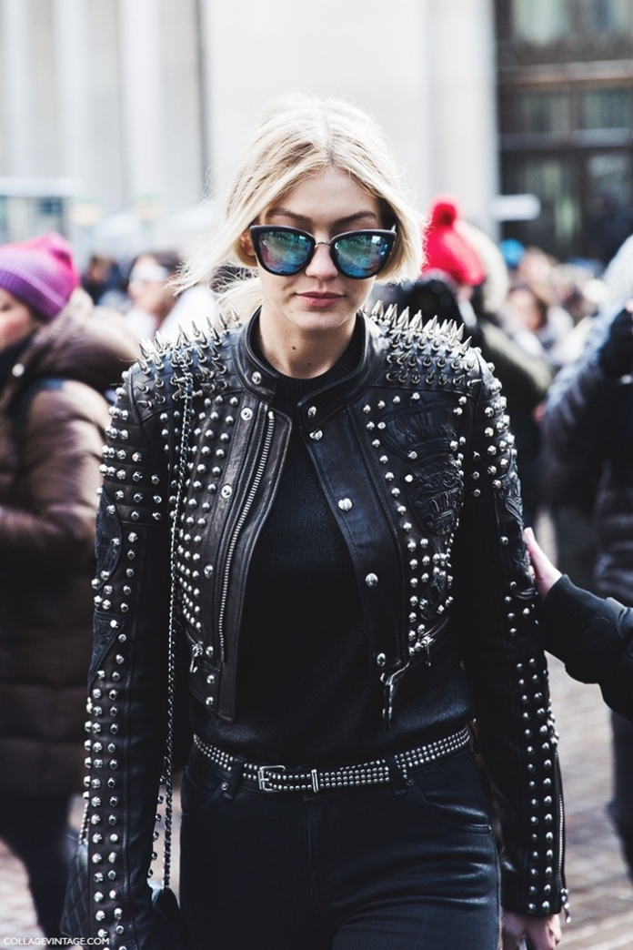 New_York_Fashion_Week-Fall_Winter_2015-Street_Style-NYFW-Studded_Leather_Jacket-Diesel-Gigi--790x1185